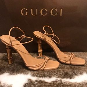 GUCCI Tom Ford 2002 Collection Bamboo Nude Heel 8B